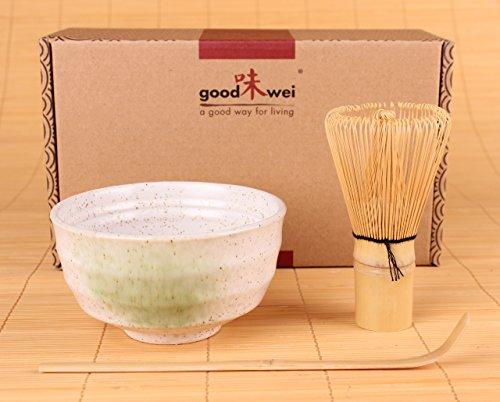 Goodwei Japanisches Matcha-Set, 3-teilig (Weiß)