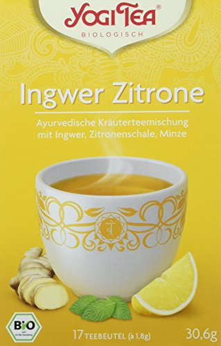 Yogi Tea Ingwer Zitrone Tee Bio, 3 Pack