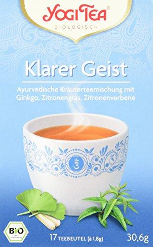 Yogi Tea Klarer Geist Tee Bio, 3 Pack