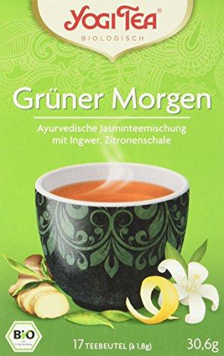 Yogi Tea Grüner Morgen Bio, 3er Pack